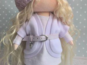 Шьем куклу: пошив жакета и оформление лица куколки. Ярмарка Мастеров - ручная работа, handmade.