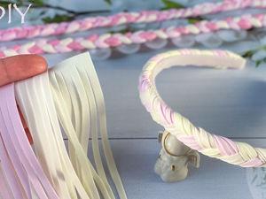 Как сделать оригинальный ободок «Косичка». Ярмарка Мастеров - ручная работа, handmade.