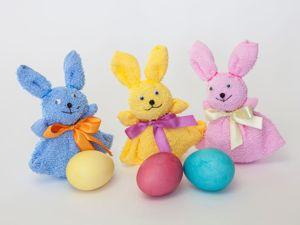Видеоурок: пасхальный кролик из полотенца для яичка. Ярмарка Мастеров - ручная работа, handmade.