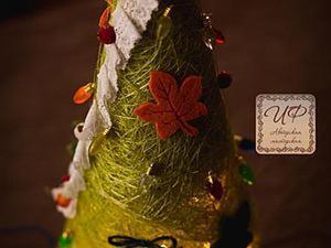 Создаем елочку-светильник из сизаля. Ярмарка Мастеров - ручная работа, handmade.