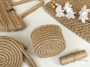Вяжем корзину из джута: вязание идеального круга. Супер узор для обвязки. Ярмарка Мастеров - ручная работа, handmade.