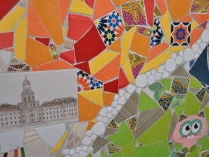 Мозаика из битой плитки на кухне. Ярмарка Мастеров - ручная работа, handmade.