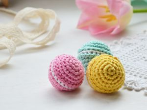 Crocheting Macaroons: Key Chain in 30 Minutes. Livemaster - handmade