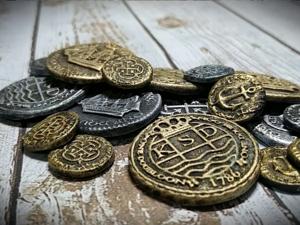 Декор монет и ракушек из полимерной глины. Ярмарка Мастеров - ручная работа, handmade.