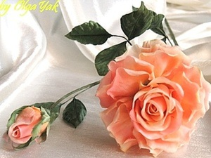 Роза из ткани. Простая, но эффектная. Ярмарка Мастеров - ручная работа, handmade.