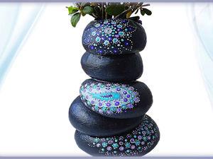 Создаем вазу из камней легко и просто своими руками. Ярмарка Мастеров - ручная работа, handmade.