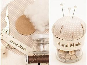 Pincushion from a Jar with Your Own Hands. Livemaster - handmade