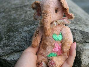 Акция на слоника тедди Хоню:). Ярмарка Мастеров - ручная работа, handmade.
