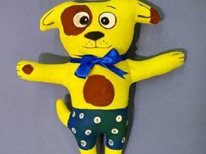 Расписываем собачку Тошу — мягкая игрушка из бязи. Ярмарка Мастеров - ручная работа, handmade.