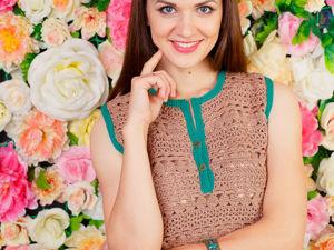 Готовимся к лету: ажурные вязаные блузки. Ярмарка Мастеров - ручная работа, handmade.