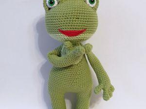 Вяжем лягушку. Ярмарка Мастеров - ручная работа, handmade.