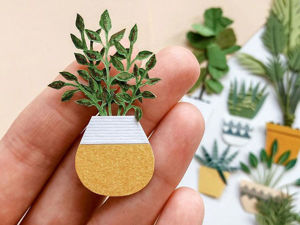 The Fleur of Paper Miniatures in the Cozy Plant World by Tania Lissova. Livemaster - handmade