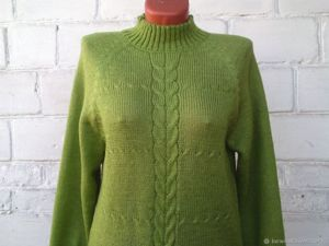 Новая цена на свитер салатовый из ангоры 1750р, доставка бесплатно. Ярмарка Мастеров - ручная работа, handmade.
