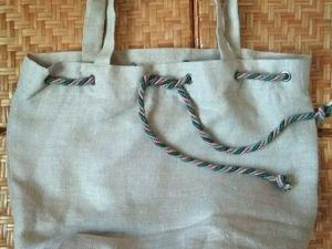 Льняные сумки. Ярмарка Мастеров - ручная работа, handmade.