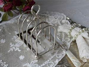 Дополнительные фотографии антикварной подставочки для тостов. Ярмарка Мастеров - ручная работа, handmade.