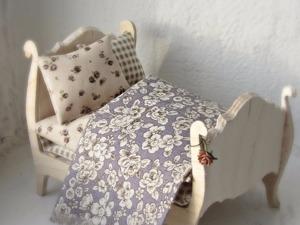 """Делаем миниатюру: """"Кроватка для мышки"""". Ярмарка Мастеров - ручная работа, handmade."""