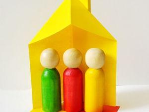 Домик для кукол из бумаги. Ярмарка Мастеров - ручная работа, handmade.