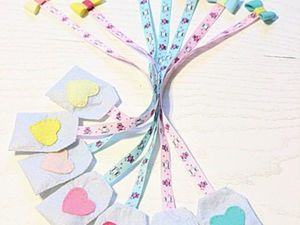 Sewing a Romantic Bookmark. Livemaster - handmade