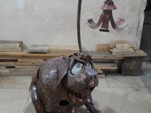 Собака фонарь. Ярмарка Мастеров - ручная работа, handmade.