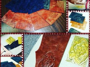 Нанесение рисунков на кожу методом тиснения. Ярмарка Мастеров - ручная работа, handmade.