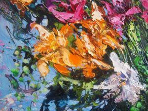 Видео мастер-класс по интуитивной живописи: пишем масляными красками картину-абстракцию с лилиями. Ярмарка Мастеров - ручная работа, handmade.