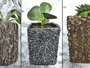 5 идей мини цветочных горшков: видео мастер-класс. Ярмарка Мастеров - ручная работа, handmade.