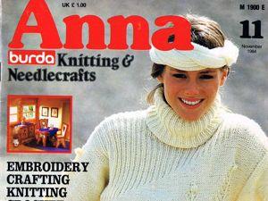 Журнал Anna № 11/1984. Фото работ. Ярмарка Мастеров - ручная работа, handmade.