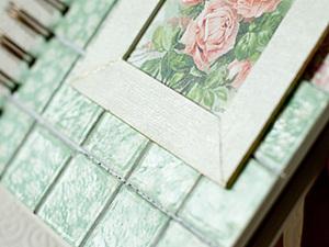 Имитация плитки при декоре обложки. Ярмарка Мастеров - ручная работа, handmade.
