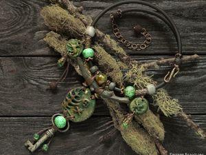 Колье  «Путь шамана». Ярмарка Мастеров - ручная работа, handmade.