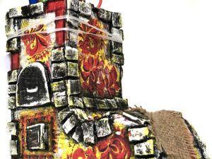 Создаем печку-карандашницу из картона. Ярмарка Мастеров - ручная работа, handmade.