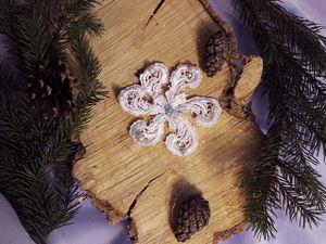 Изготавливаем изящную кружевную снежинку. Ярмарка Мастеров - ручная работа, handmade.