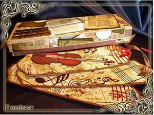 Подарочная коробочка с использованием скрап-карт. Ярмарка Мастеров - ручная работа, handmade.
