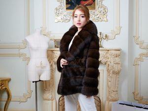 Ещё одна новинка из новой коллекции «Sable Furs Couture 20/21» – шуба из соболя Ивонна. Ярмарка Мастеров - ручная работа, handmade.