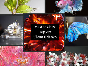 Мастер класс по искусству Dip art (цветы из прозрачной смолы и проволоки). Ярмарка Мастеров - ручная работа, handmade.