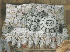 Новое поступление! Филейные салфетки для украшения подушечек! + скидка 45%!. Ярмарка Мастеров - ручная работа, handmade.