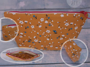 Sewing Cosmetic Bag with 2 Compartments Inside. Livemaster - handmade