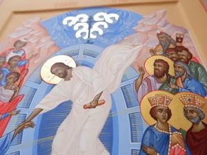 Работа над иконой Воскресение Господне. Ярмарка Мастеров - ручная работа, handmade.
