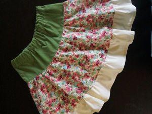 Шьем простую летнюю юбку без выкройки. Ярмарка Мастеров - ручная работа, handmade.