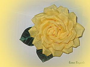 Создаем брошь-розу из ткани без профессиональных инструментов. Ярмарка Мастеров - ручная работа, handmade.