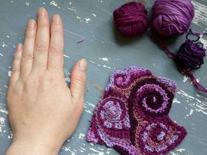 Вяжем спирали в двух вариантах. Вязание фриформ для начинающих. Ярмарка Мастеров - ручная работа, handmade.