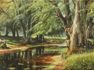 Пишем простенький пейзаж. Ярмарка Мастеров - ручная работа, handmade.