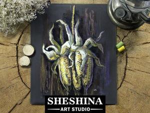 Видеоурок: рисуем кукурузу сухой пастелью. Ярмарка Мастеров - ручная работа, handmade.