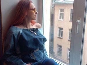 Платье из джинс. Upcycling. Ярмарка Мастеров - ручная работа, handmade.
