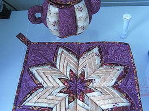 """Мк прихватка """"Звезда Оригами"""". Ярмарка Мастеров - ручная работа, handmade."""