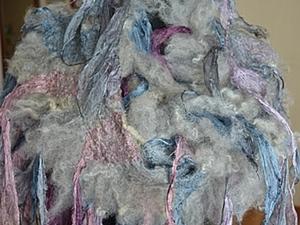"""Со-творение шарфа-боа """"Краказября Невозможный""""с радостью. Ярмарка Мастеров - ручная работа, handmade."""