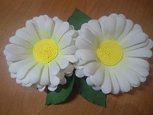 Ромашки от Иришки: делаем цветы из фоамирана. Ярмарка Мастеров - ручная работа, handmade.