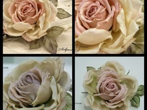 Роза в стиле  «Прованс». Ярмарка Мастеров - ручная работа, handmade.
