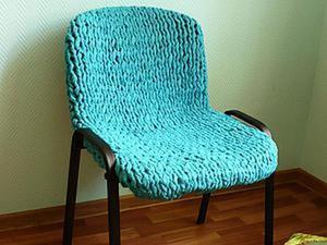 Утепляем стульчик: вяжем флисовый чехол. Ярмарка Мастеров - ручная работа, handmade.