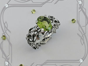 Кольцо «Винтаж- Vintage- black» серебро 925 пробы, хризолит. Ярмарка Мастеров - ручная работа, handmade.