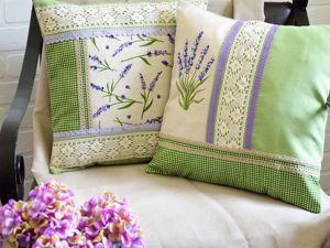 Льняные декоративные подушки. Ярмарка Мастеров - ручная работа, handmade.